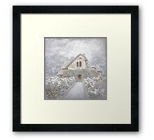 Moon Cottage Framed Print