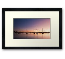 Sail Away Into The Sunset Framed Print