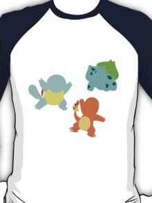 First Gen Starter Pokemon T-Shirt