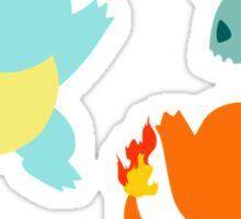 First Gen Starter Pokemon Sticker