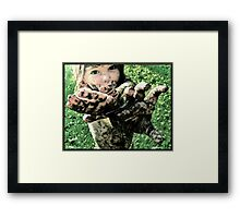 like a bird of the sky, I'm a child made of here Framed Print