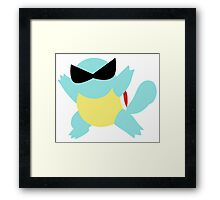 Squirtle Sunglasses Framed Print