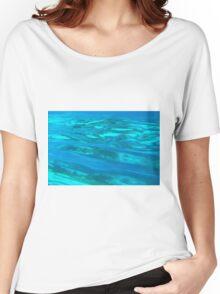 blue liquid Women's Relaxed Fit T-Shirt