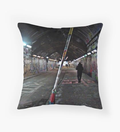 Graffiti Tunnel Throw Pillow