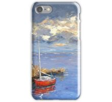 Lonely red boat iPhone Case/Skin