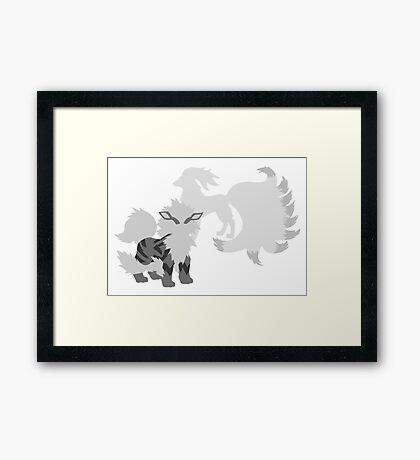 Arcanine and Ninetales Framed Print
