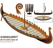Oseberg Viking Ship by Aasmund