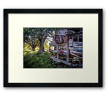 Abandoned Peanut Thresher - Mulgildie Plateau, Tellebang, Queensland, Australia Framed Print