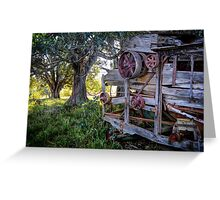 Abandoned Peanut Thresher - Mulgildie Plateau, Tellebang, Queensland, Australia Greeting Card