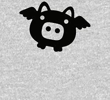 Flying Pig Black B&W T-Shirt