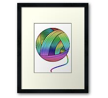 Rainbow Yarn Ball! Framed Print
