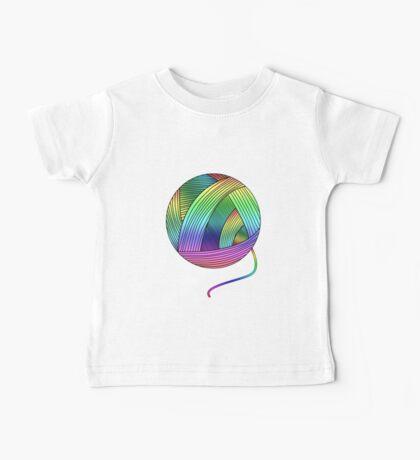 Rainbow Yarn Ball! Baby Tee