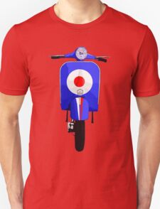 Blue Scooter with target and stripe decal T-Shirt