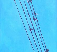 Birds, Wires 5 by eolai