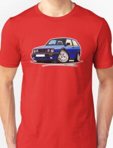 VW Golf GTi (Mk2) Blue Unisex T-Shirt