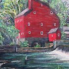 By the Red Mill in New England by Richard Nowak