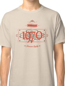 Since 1970 (Red&Black) Classic T-Shirt