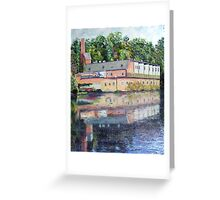Mill Reflections-Westfield, MA Greeting Card