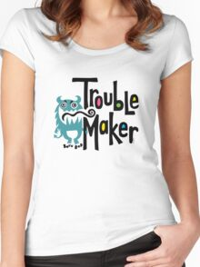 Trouble Maker - born bad Women's Fitted Scoop T-Shirt