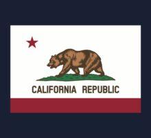 California USA State Flag Bedspread Duvet T-Shirt - Californian Sticker One Piece - Long Sleeve
