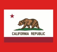 California USA State Flag Bedspread Duvet T-Shirt - Californian Sticker by deanworld