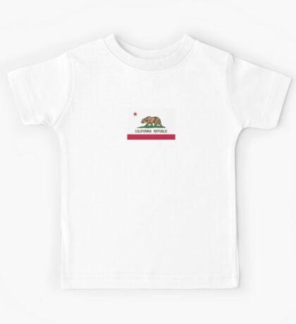 California USA State Flag Bedspread Duvet T-Shirt - Californian Sticker Kids Tee