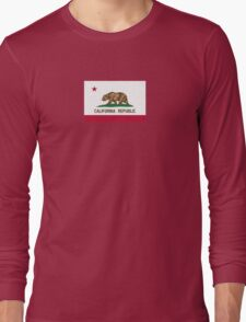 California USA State Flag Bedspread Duvet T-Shirt - Californian Sticker Long Sleeve T-Shirt