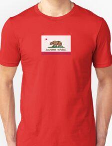 California USA State Flag Bedspread Duvet T-Shirt - Californian Sticker T-Shirt