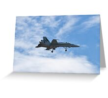 F/A - 18 Superhornet landing during Red Flag 10-2 Greeting Card