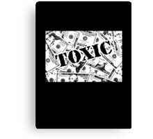 Toxic Money (Dark Background) Canvas Print
