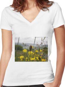 Flora - Burt Co. Donegal Ireland Women's Fitted V-Neck T-Shirt