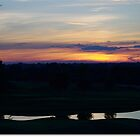 Sunset Over Golf Course by kmax
