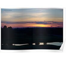 Sunset Over Golf Course Poster