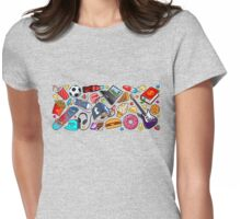 teenage explosion / pattern Womens Fitted T-Shirt