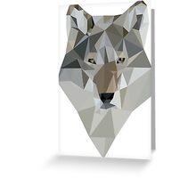 Polygon Wolf Greeting Card
