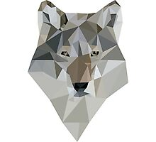 Polygon Wolf Photographic Print