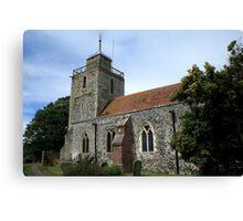 St Mary, Woodnesborough Canvas Print