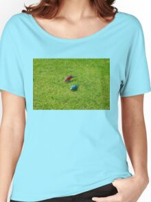 Pair of colourful parrots in Buenos Aires Women's Relaxed Fit T-Shirt