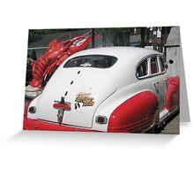LobsterRestaurant Owners' 1946 Pontiac Greeting Card