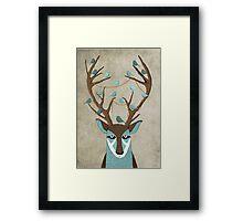 The deer Framed Print
