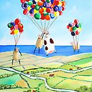 Up, up and away cow and sheep balloons by gordonbruce
