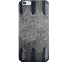Metal railings and stone background iPhone Case/Skin