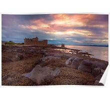Blackness Castle Sunset Poster