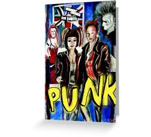 Punk Rock Style  Greeting Card