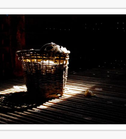 A basket of light Sticker