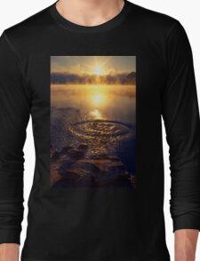 Ripple ring splash in water lake Long Sleeve T-Shirt