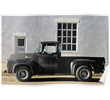 Red Lodge Chevy Pick Up Poster