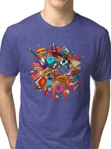 teenage explosion Tri-blend T-Shirt