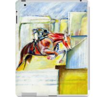The equestrian- painting of horse and rider iPad Case/Skin