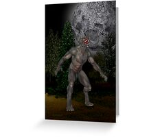 Howl at the Moon .. the wolfmans tale Greeting Card